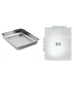 BAC GASTRO INOX GN2/1 650X530 EP 0.9MM STANDARD