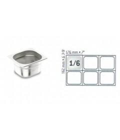 BAC GASTRO INOX GN1/6 176X162 EP 0.7 MM STANDARD