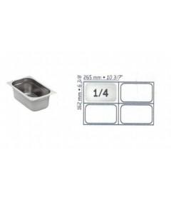 BAC GASTRO INOX GN1/4 265X162 EP 0.7MM STANDARD