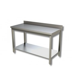 TABLE ADOSSEE + ETAGERE BASSE