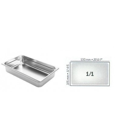 BAC GASTRO INOX GN1/1 530X325 EP 0.8MM STANDARD