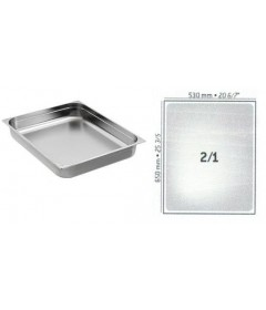 BAC GASTRO INOX GN2/1 650X530 EP 0.9MM STANDARD