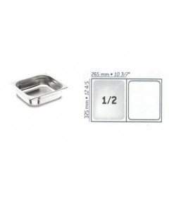 BAC GASTRO INOX GN1/2 325X265 EP 0.8MM STANDARD