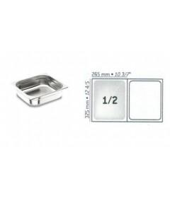 BAC GASTRO INOX GN1/2 325X265 EP 0.8MM STANDARD