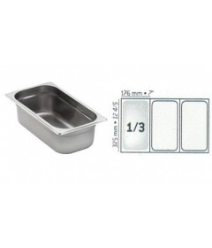 BAC GASTRO INOX GN1/3 325X176 EP 0.7MM STANDARD