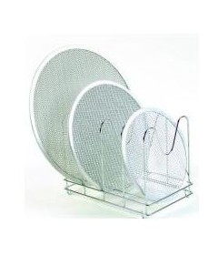 SUPPORT HORIZONTAL 96GRILLES A PIZZA 36X22X26CM INOX