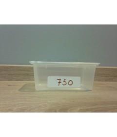 BARQUETTE PP TERRINE 750 CC TRANSPARENTE PAR LOT DE 25