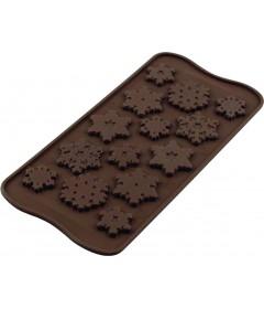 Plaque chocolats flocons de niege