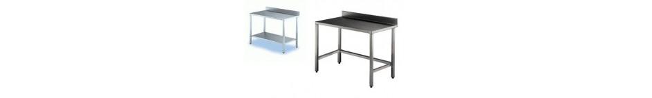 Table inox adossée