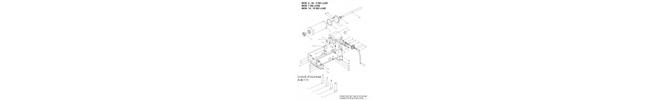 Pièces détachées poussoir 7l- 7/V- 7 DE LUXE TRE SPADE